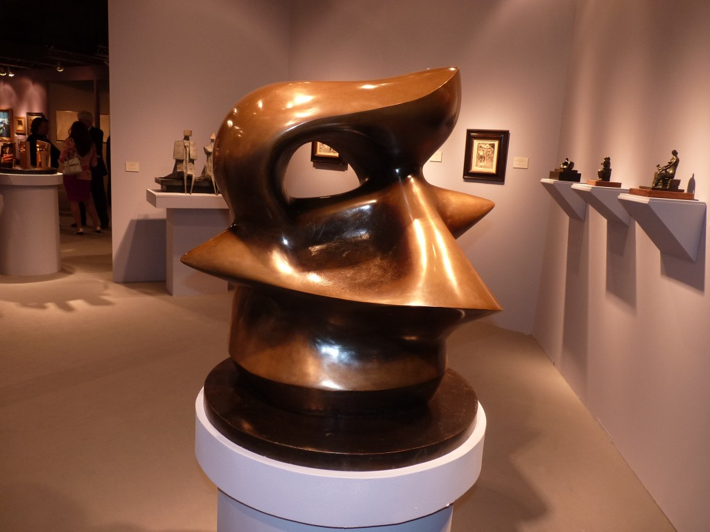 "Can't ask for more than this superb Moore, a glowing, bulging bronze masterpiece, ""Spindle Piece"" at Osborne Samuel, one of ten from 1968"