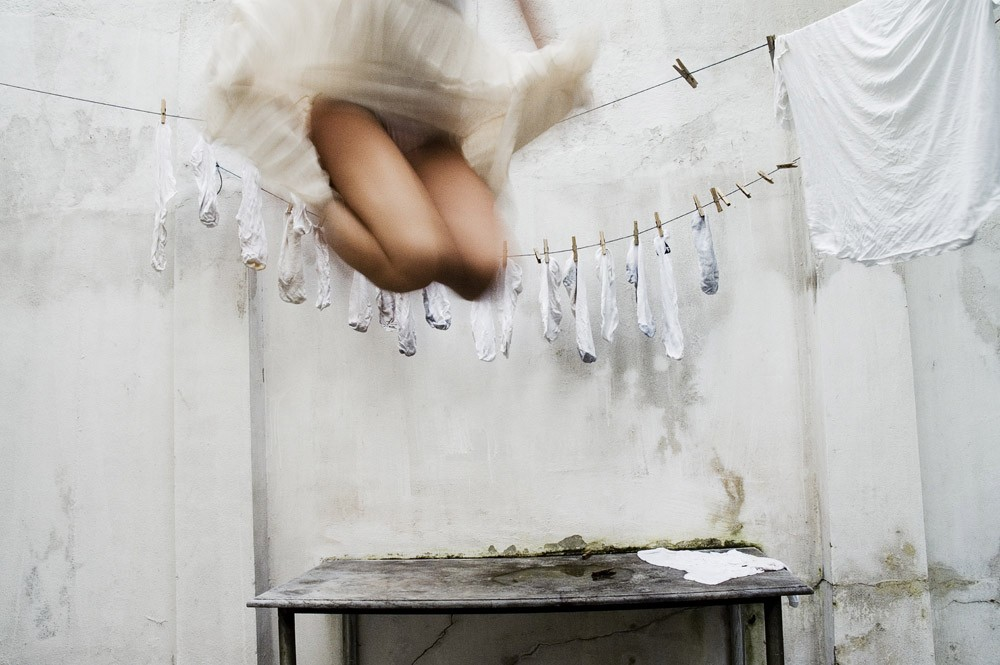 "Another Charlotte favorite favorite from Emily's EYEBUYART, Gabriela Herman ""Jump"", 20x14"" from the series Self Portraits is a C-print in an edition of 25 each $500 unframed and $800 framed."